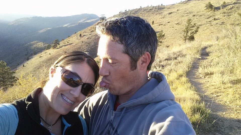 April and Clay on a hike, Fall of 2014